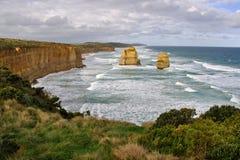 Skeppsbrottkusten, Victoria, Australien Fotografering för Bildbyråer