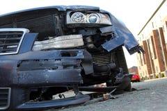 Skeppsbruten bil efter olycka Royaltyfri Bild