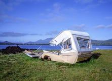 Skeppsbruten husvagn Fotografering för Bildbyråer