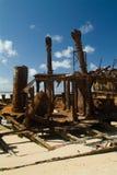 skeppsbruten strand Royaltyfri Fotografi