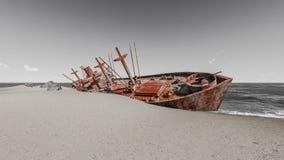 Skeppsbrutna skepp Arkivfoto
