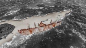 Skeppsbrutna skepp Fotografering för Bildbyråer