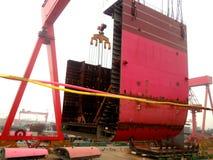 Skeppsbyggeri i Kina Arkivbilder