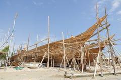 Skeppsbyggeri Oman Fotografering för Bildbyråer