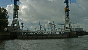 Skeppsdocka Elbe 17, Hamburg stock video