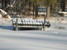 Skeppsdocka i snö Royaltyfri Fotografi