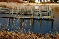 Skeppsdocka på Lake Michigan Arkivfoto
