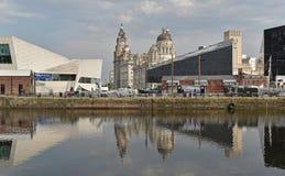 Skeppsdocka p? burk i Liverpool royaltyfri bild