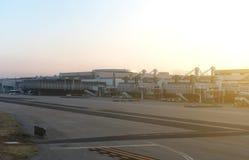Skeppsdockor för flygplatsterminal Royaltyfri Fotografi