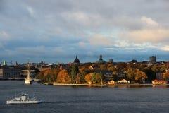 Skeppsholmen海岛在中央斯德哥尔摩 免版税库存照片