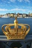 Skeppsholmen bridge and Royal palace Stock Photos