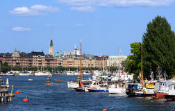 Skeppsholmen in Stockholm in Sweden Royalty Free Stock Photography