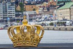 Skeppsholmsbron (Skeppsholm Bridge) With Its Famous Golden Crown Stock Photo