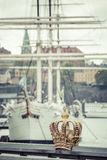 Skeppsholmsbron (Skeppsholm Bridge) With Its Famous Golden Crown Royalty Free Stock Photography