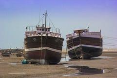 Skeppskeppsdockagård Mandvi, Indien arkivbild