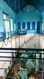 Skeppsvarv gammal tappningvattenpumphouse royaltyfria bilder