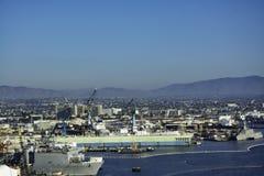 Skeppsvarv i fjärd på San Diego, Kalifornien Fotografering för Bildbyråer