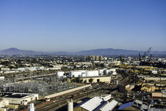 Skeppsvarv i fjärd på San Diego, Kalifornien Arkivbilder