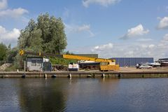Skeppsvarv i Hoogeveen Fotografering för Bildbyråer
