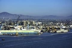 Skeppsvarv i San Diego, Kalifornien fjärd Arkivbild