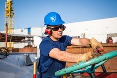 Skeppsvarvarbetare royaltyfri fotografi