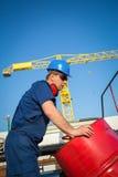 Skeppsvarvarbetare royaltyfri foto