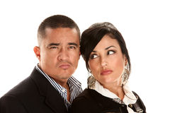 Skeptical or angry Hispanic couple Royalty Free Stock Photography