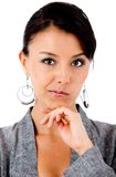 Skeptical business woman Stock Photos