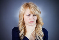 Skeptical disgust Stock Photography