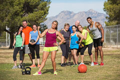Skeptical Fitness Instructor Royalty Free Stock Image