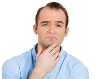 Skeptical mężczyzna Zdjęcia Royalty Free