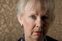 Skeptical Senior Woman Royalty Free Stock Image