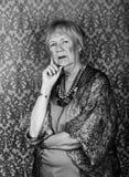 Skeptical Senior Woman Stock Photo
