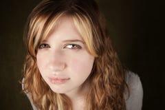 Skeptical Teenage Girl Stock Image