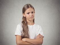 Skeptical teenager girl Stock Photography
