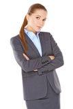 Skeptische Geschäftsfrau Stockfotos