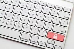Säker knapp för tangentbord Arkivbilder