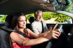 Säker learnerchaufför Arkivbilder