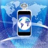 säker teknologi för global information Arkivfoton