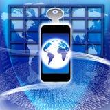 säker teknologi för global information Arkivbild