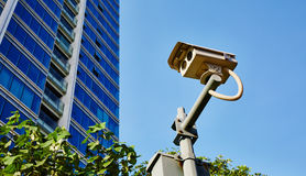 säkerhet för kameracopyspace alldeles Royaltyfri Fotografi