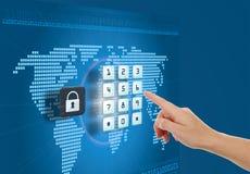 Säkerhet och skydd i internet Royaltyfria Bilder