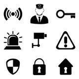 Säkerhetsdesign, vektorillustration Arkivbild