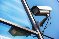 Säkerhetskamera och stads- video Arkivfoton