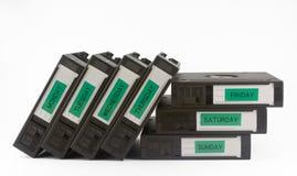 säkerhetskopiaband Arkivfoton