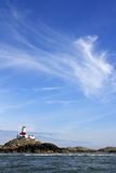 The Skerries. Island with it's lighthouse on it Stock Image