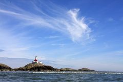 The Skerries. Island with it's lighthouse on it Royalty Free Stock Photos