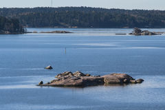 Skerries in the Baltic Sea. Near Turku city. Finland Royalty Free Stock Photos