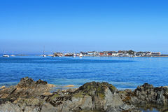 Skerries County Dublin. A view of Skerries looking across the bay to the harbour Royalty Free Stock Image