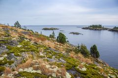Skerries Lake Ladoga стоковое фото rf